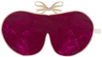 Holistic Silk Dark Pink Silk Velvet Eye Mask