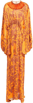 Johanna Ortiz Perpetual Existence Embellished Printed Gauze Maxi Dress