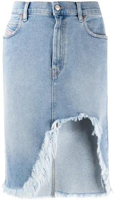 Diesel Asymmetric Denim Skirt