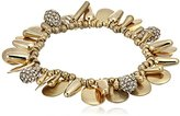 Kenneth Cole New York Shaky Gold Mixed Bead Stretch Bracelet