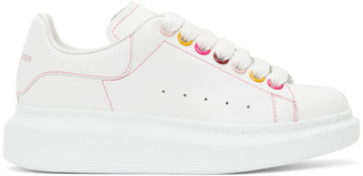 Alexander McQueen White Rainbow Eyelets Oversized Sneakers