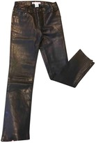 Bonpoint Black Leather Trousers