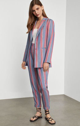 BCBGMAXAZRIA Striped Ankle Pant