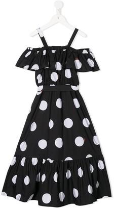 Msgm Kids Polka-Dot Print Dress