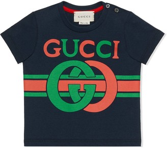 Gucci Kids cotton T-shirt with GG print