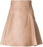 Alexander McQueen full panelled skirt - women - Silk/Calf Leather/Lamb Skin - 38