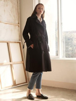 Double Button Trench Coat Navy