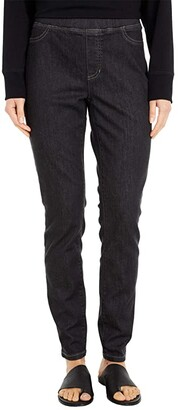 Eileen Fisher Organic Cotton Soft Stretch Denim Jegging (Vintage Black) Women's Casual Pants