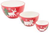 3pc Arctic Holiday Mixing Bowl Set