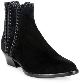 Michael Kors Presley Whipstitch Suede Chelsea Boots