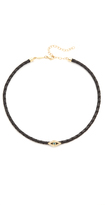 Jacquie Aiche Blue Diamond Eye Leather Choker