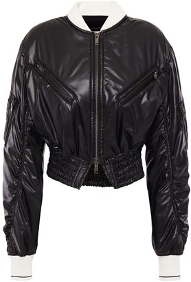 Haider Ackermann Cropped Shirred Shell Jacket