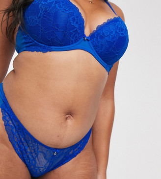 Ann Summers Curve Sexy Lace brazilian knicker in blue