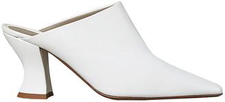 Bottega Veneta Leather Pointed Toe Mules in Optic White | FWRD