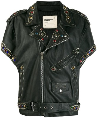 R 13 embellished biker jacket