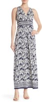 Max Studio V-Neck Sleeveless Pattern Print Maxi Dress