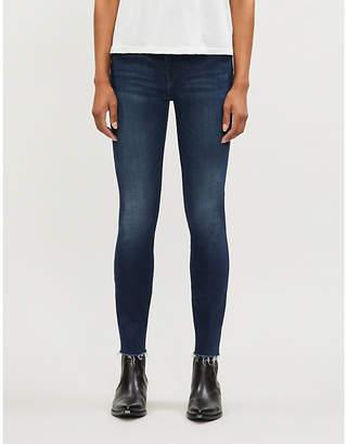 Mother The Looker high-rise skinny raw hem stretch-denim jeans