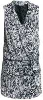 H&M Draped Dress - Black/patterned - Ladies