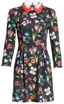 Ted Baker Hampton Embellished Collar Floral Dress