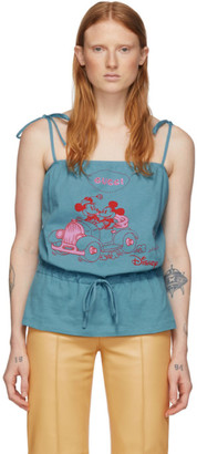 Gucci Blue Disney Edition Mickey Mouse Tank Top