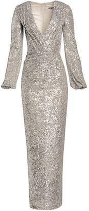Pamella Roland Sequin V-Neck Gown