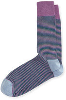 Neiman Marcus Mercerized Rugby-Striped Socks
