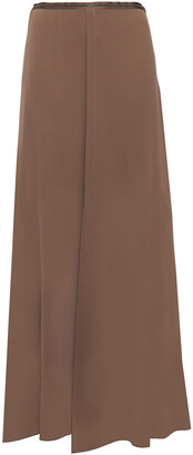Brunello Cucinelli Bead-embellished Silk-georgette Maxi Skirt