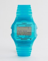 Timex Digital Watch In Blue