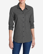 Eddie Bauer Women's Stine's Favorite Flannel Shirt - One-Pocket Boyfriend - Heather