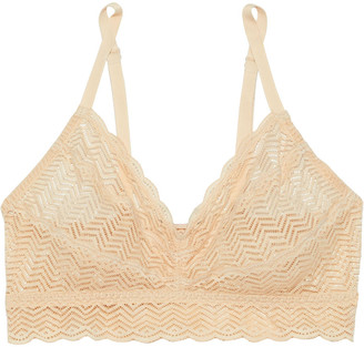 Cosabella Sweet Treats Geo Ruched Stretch-lace Bralette