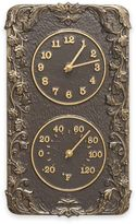 Whitehall Products Acanthus Combo Outdoor Clock and Thermometer in French Bronze