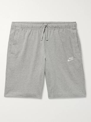 Nike Sportswear Club Melange Cotton-Jersey Drawstring Shorts