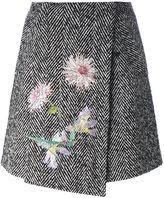 Blumarine herringbone skirt