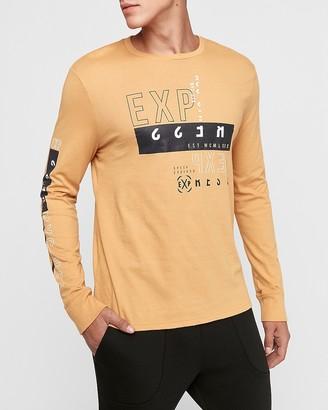 Express Yellow Long Sleeve Graphic T-Shirt