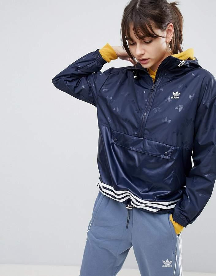 adidas Windbreaker Jacket In Navy