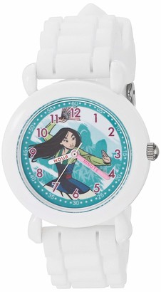Disney Girls' Princess Analog Quartz Watch with Silicone Strap