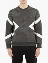 Neil Barrett Black Pinstripe Modernist Sweatshirt