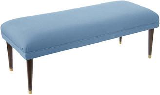 One Kings Lane Alameda Bench - French Blue Linen