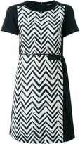 Jil Sander Navy chevron print panel dress