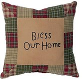 GraebnerSaleStore 18X 18inch Pastoral Style Cotton Linen Decorative Throw Pillow Cover Cushion Case Tea Cabin Bless Our Home H:678