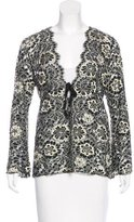 Anna Sui Lace Long Sleeve Cardigan