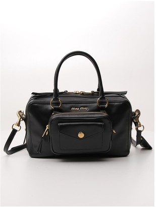 Miu Miu Logo Top Handle Bag