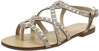 Head Over Heels Women's Nadias Ankle Strap Sandals (Rose Gold), 36 EU