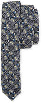 Fendi Little Monsters Skinny Tie, Blue/Gray