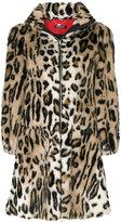 Twin-Set A-line leopard print coat