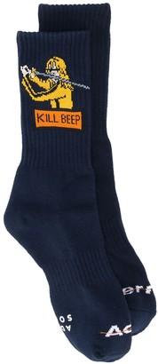 Ader Error 'Beep' embroidered socks