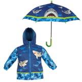 Stephen Joseph Raincoat & Umbrella Set