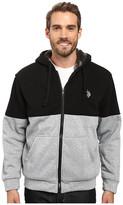 U.S. Polo Assn. Color Block Sherpa Hoodie
