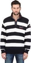 Paul & Shark Zipped Striped Wool Sweater