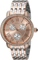 Invicta 21413 Women's Angel Crystal Accented Rose Gold Tone Dial Two Tone Bracelet Watch